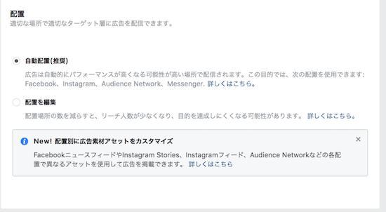 Facebook広告の配置